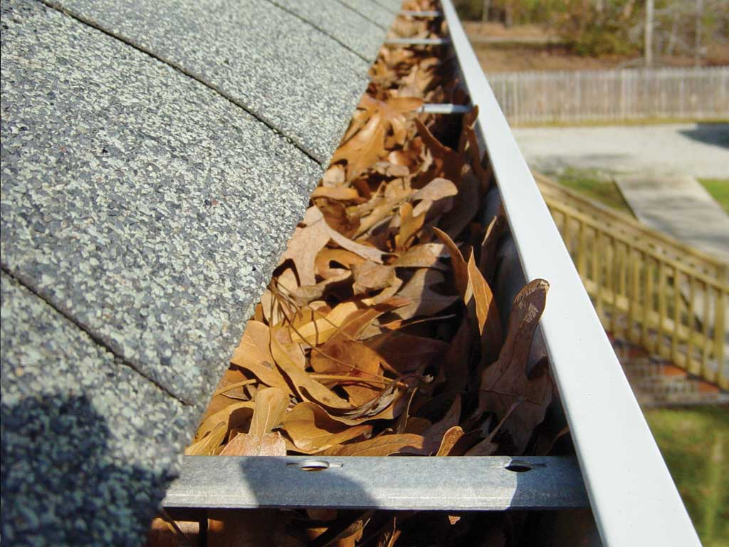 how to clean high gutters without a ladder