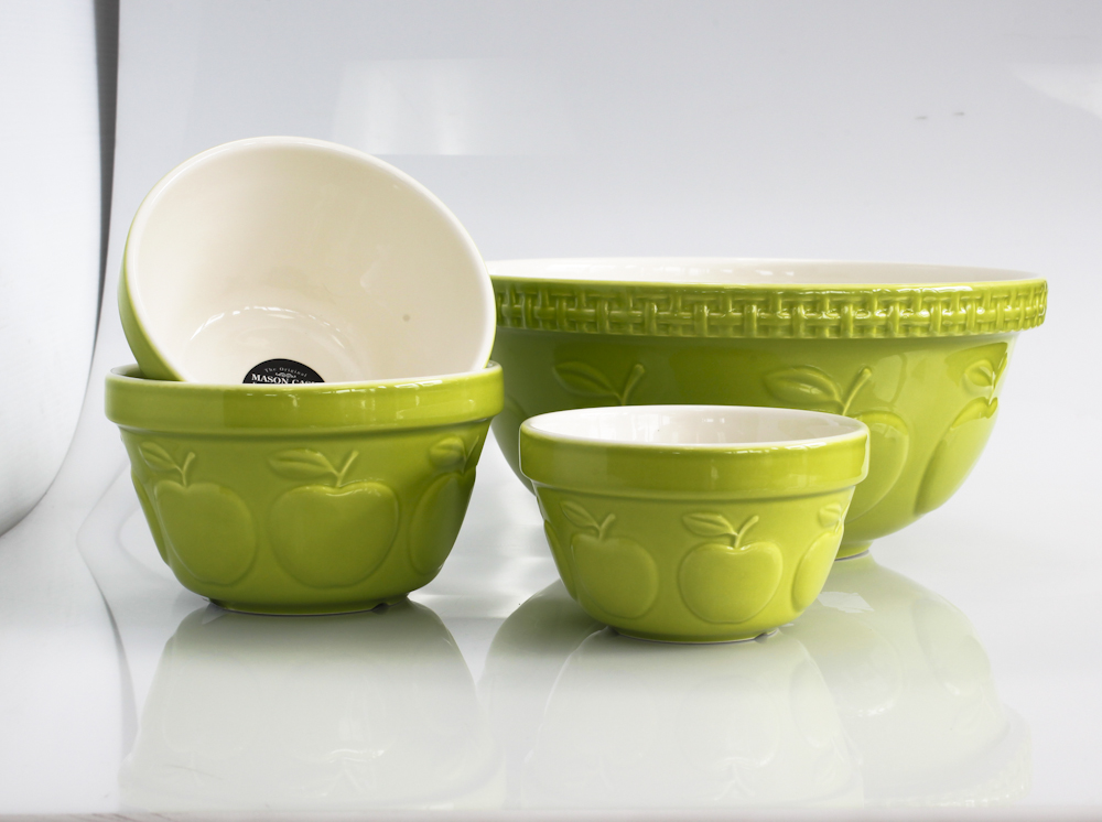 apple green bowls cookware decor decorating summers hottest hue