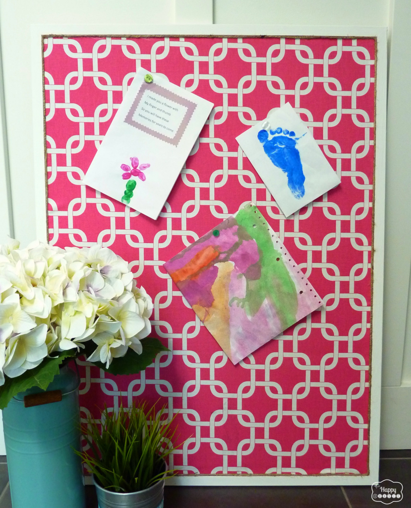fabric covered bulletin board cork diy organizing bedroom office kitchen