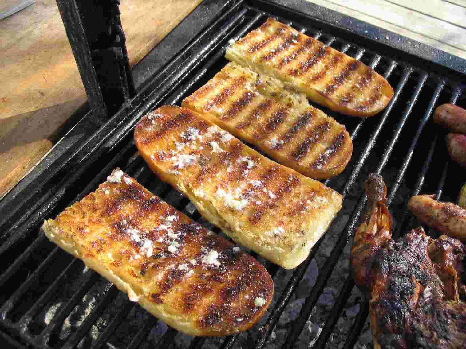 Perfect BBQ Side: Grilled Garlic Bread