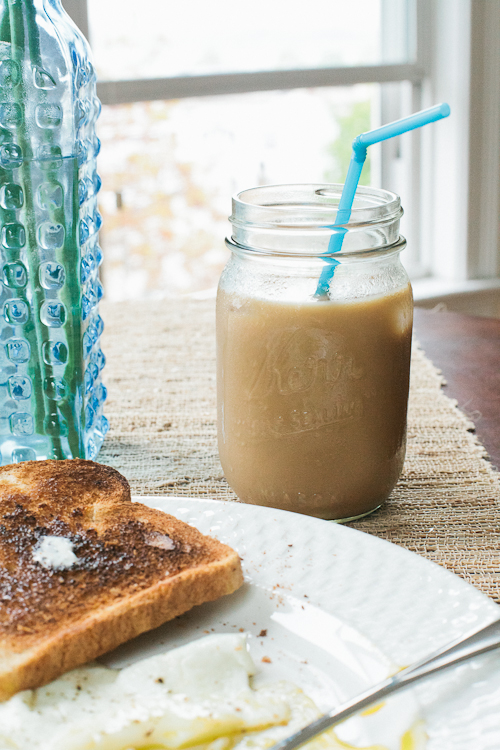homemade iced coffee cream milk sugar easy