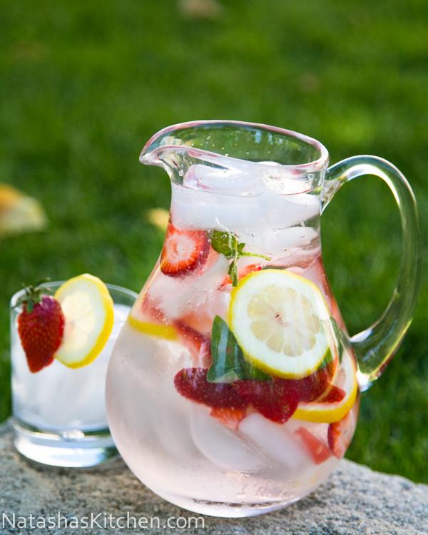 how to make infused water strawberries lemon basil lavender blueberries healthy diet