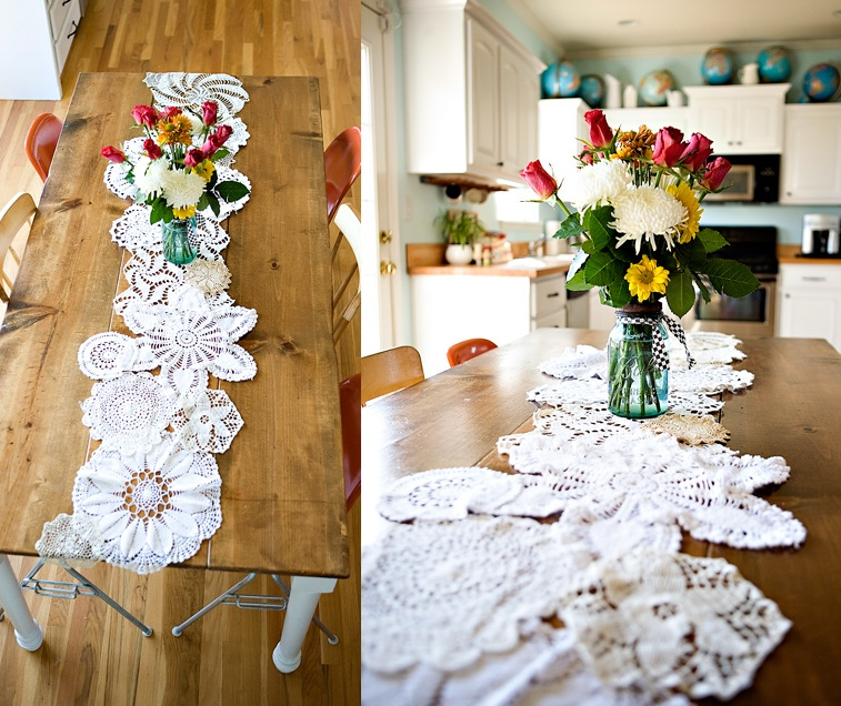how to set a fun colorful table party bbq special occasion get together doily napkin rings plates plants