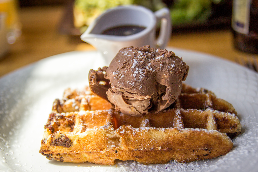 nutella ice cream homemade easy condensed milk cream waffles pancakes