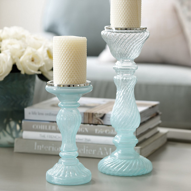 watery palette candle holders decor decorating water beachy