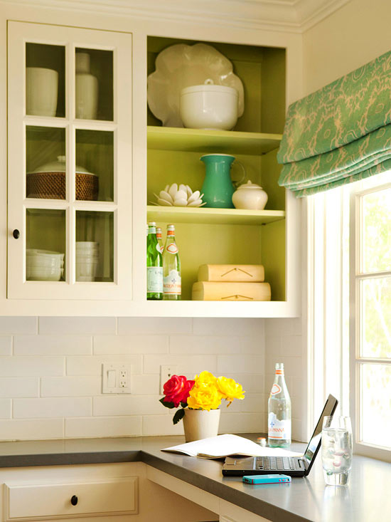 10 Cheap Ways to Update Your Kitchen Cabinets paint new hardware cheap curtains glass open removing makeover bright color1