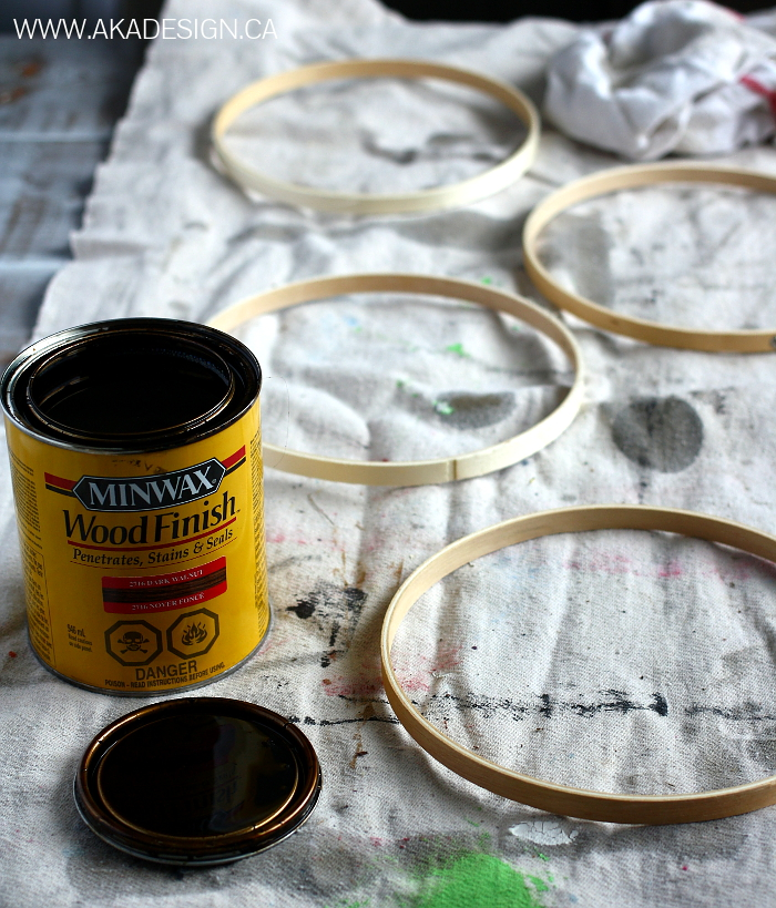 Budget DIY- Embroidery Hoop Orbs easy cheap decor designer industrial look3