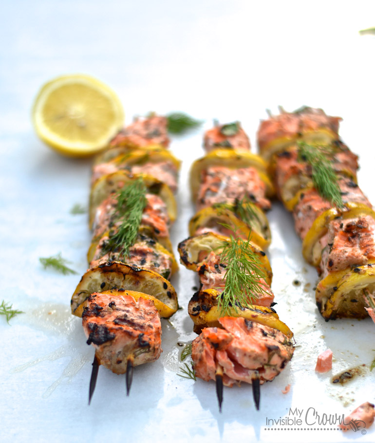 Citrus Grilled Salmon Barbeque Kabobs bbq summer party healthy ginger soy sauce pepper bamboo sticks easy diet5