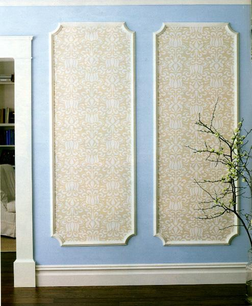 Creative Ways To Use Wallpaper Throughout Your Home wall art line drawers screen cheap budget diy1