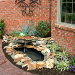 Better housekeeper blog all things cleaning gardening for Build your own waterfall pond