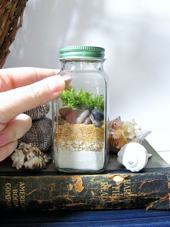How to Make a Terrarium - Take a Look at these 10 Adorable Ideas diy moss mushrooms gnomes succulents easy diy cute indoor garden container10