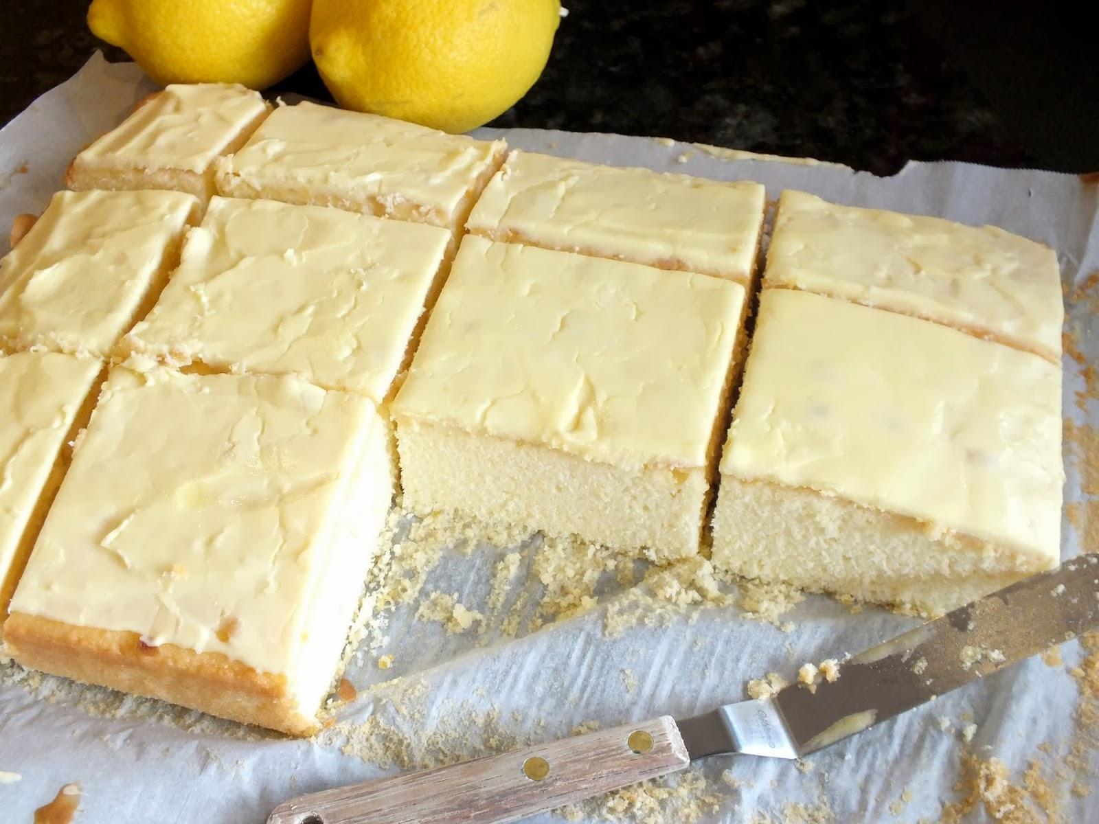 Refreshing Summer Lemon Velvet Cake Squares – Better ...
