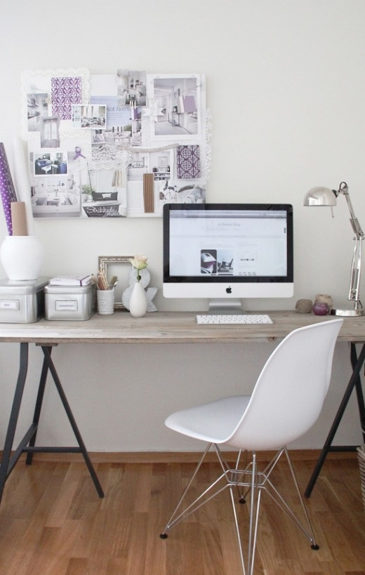 How to Design a Organized and Spacious Home Office chair desk files home organize desk decorate easy4.jpg