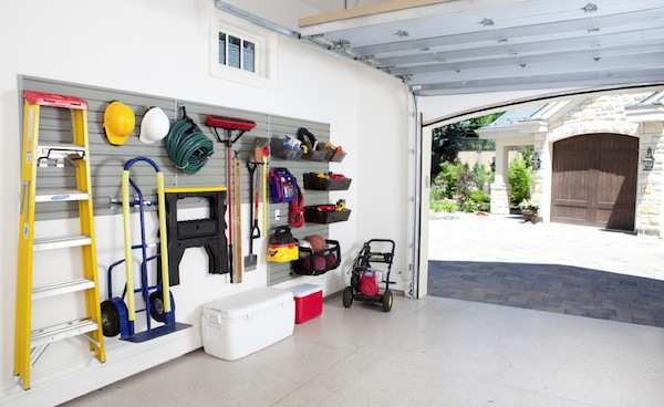 Oraganize Your Garage With These Simple Ideas and Storage Solutions shelves storage tidy organization14
