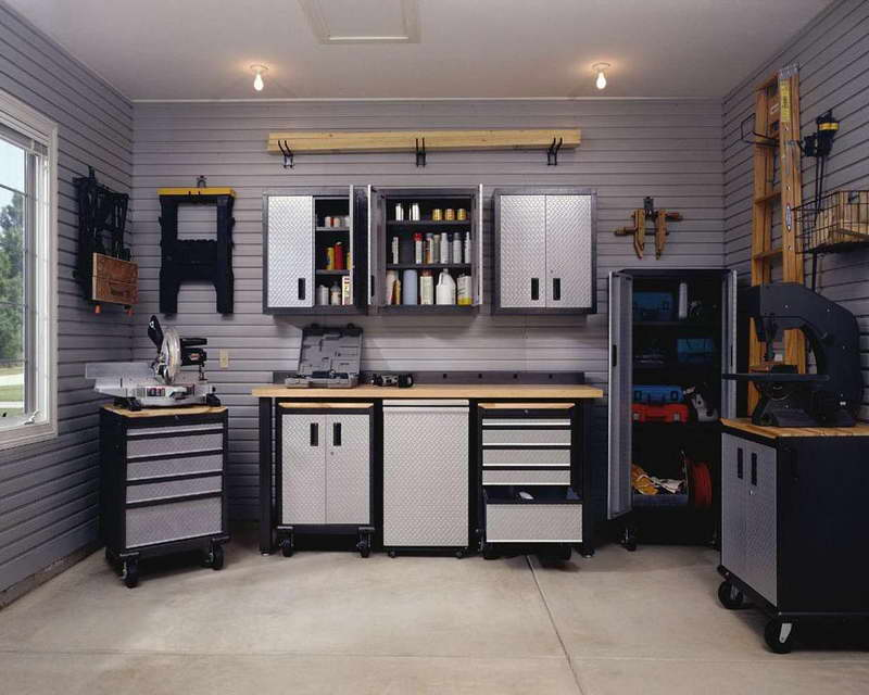 Oraganize Your Garage With These Simple Ideas and Storage Solutions shelves storage tidy organization5