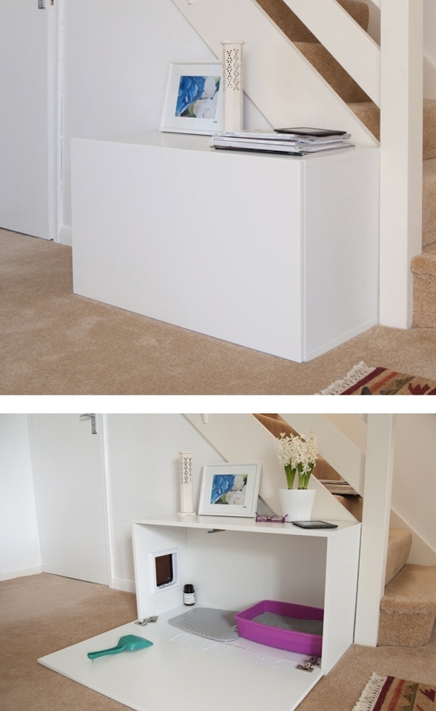 10 Ways to Hide Your Cat's Litter Box ikea hack cabinet salvage repurpose budget1