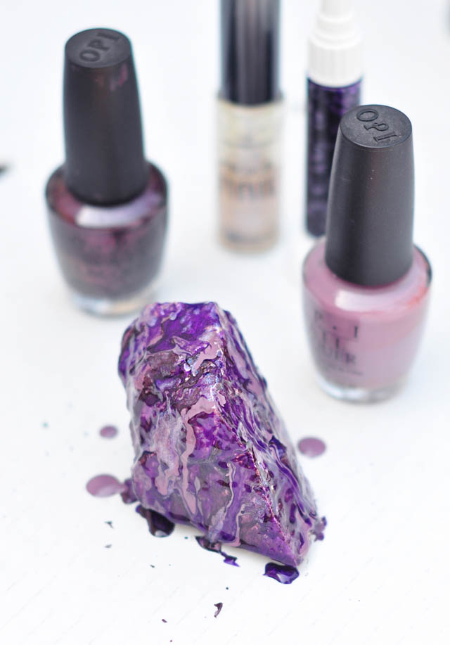DIY- Make These Faux Crystals Using Nail Polish!6