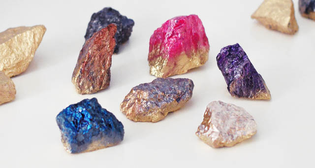 DIY- Make These Faux Crystals Using Nail Polish!9
