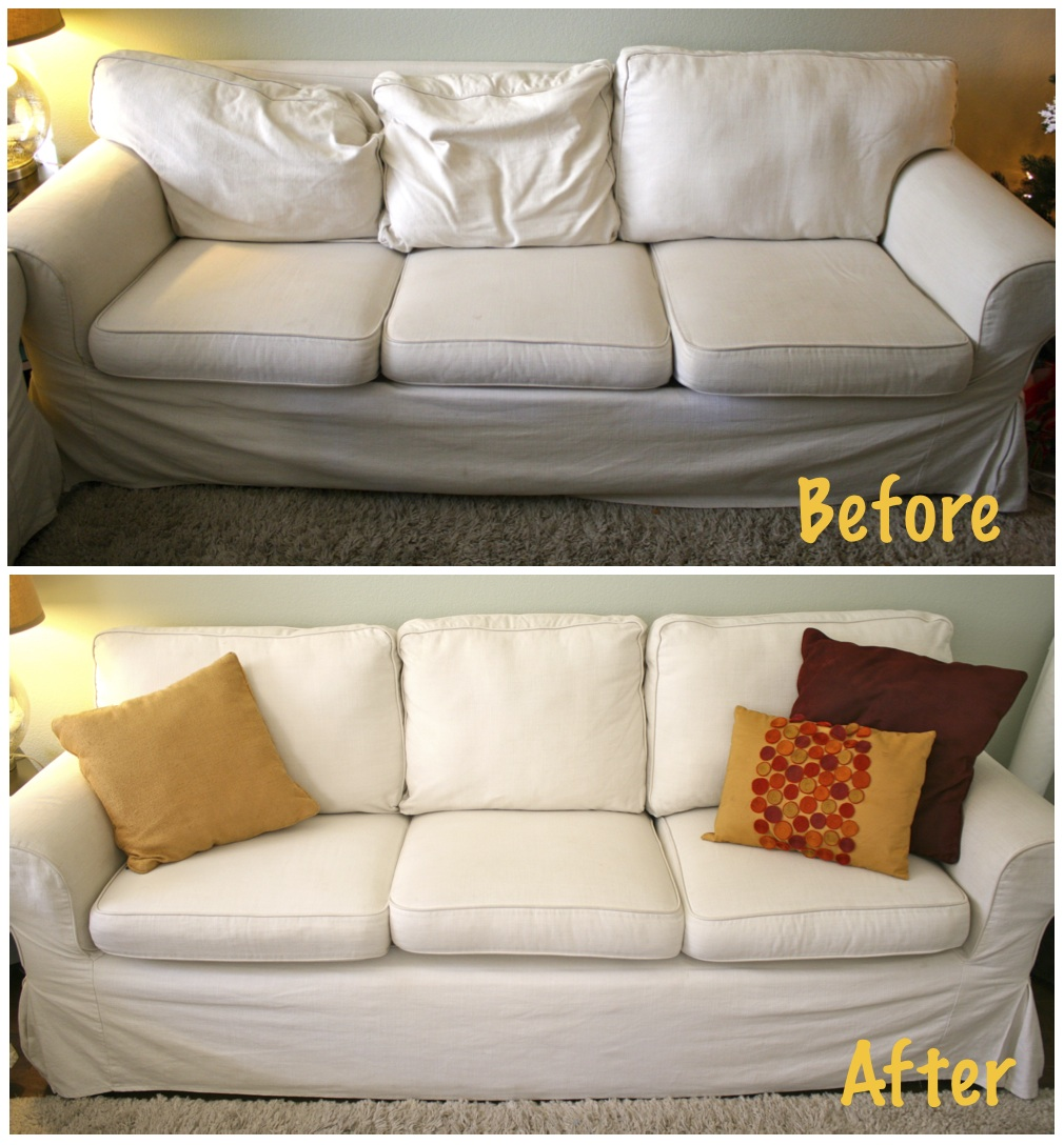 Here S How To Make Your Sagging Couch Cushions Look Plump