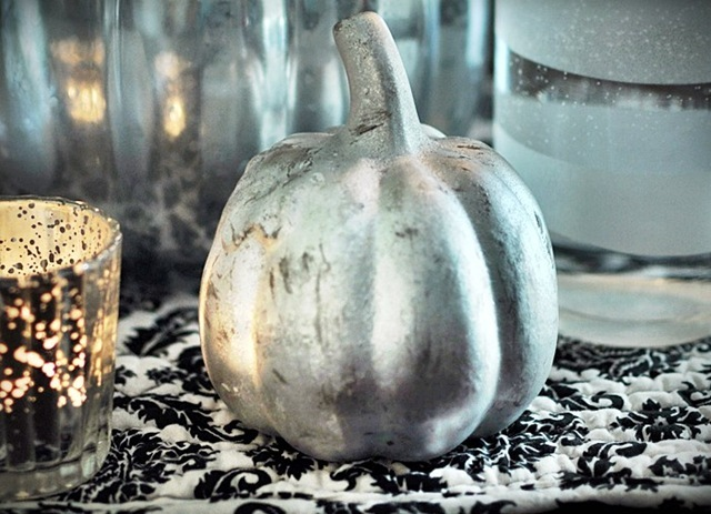 Make These Faux Mercury Glass Pumpkins Using Dollar Store Finds!9