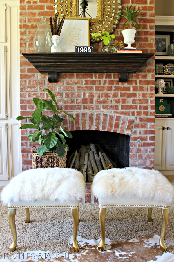 DIY- Salvage a Footstool and Make This Gorgeous Fur Ottoman1