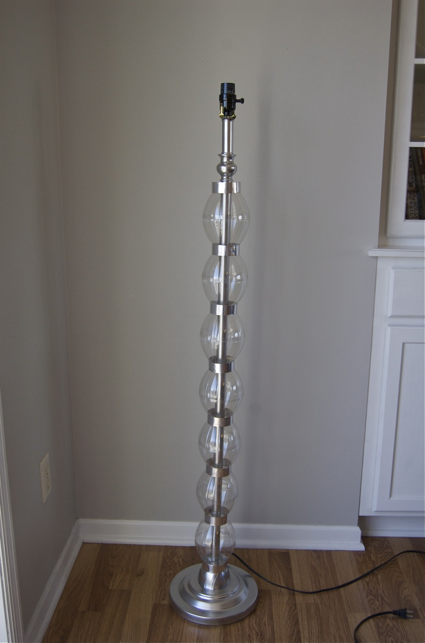 Glam On A Budget Diy Stacked Glass Ball Bauble Lamp