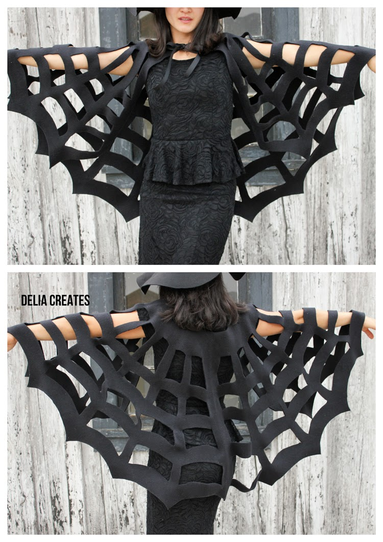 Halloween DIY: Make This No-Sew Spiderweb Cape!5