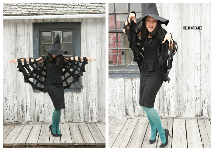 Halloween DIY: Make This No-Sew Spiderweb Cape!6