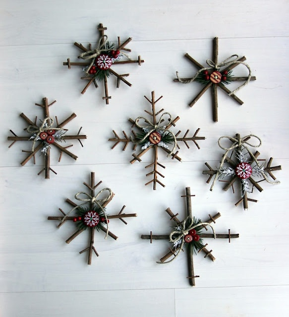 10 Rustic Christmas Decor Ideas You Can Recreate on the Cheap branches reindeer snowflakes stars moss wood thrift store easy budget friendly7