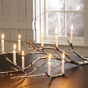 Make This Branch Candle Centerpiece For Christmas This Year glue candles decor holidays easy diy1