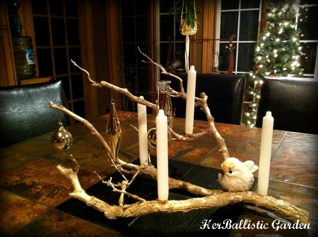 Make This Branch Candle Centerpiece For Christmas This Year glue candles decor holidays easy diy11