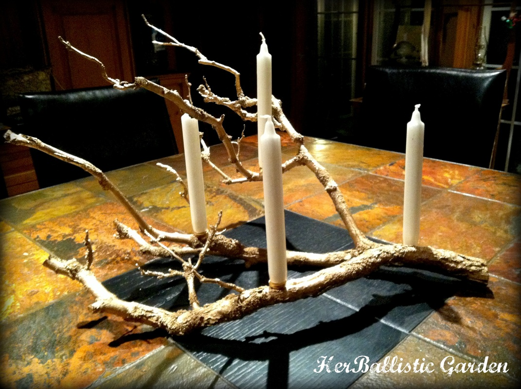 Make This Branch Candle Centerpiece For Christmas This Year glue candles decor holidays easy diy8