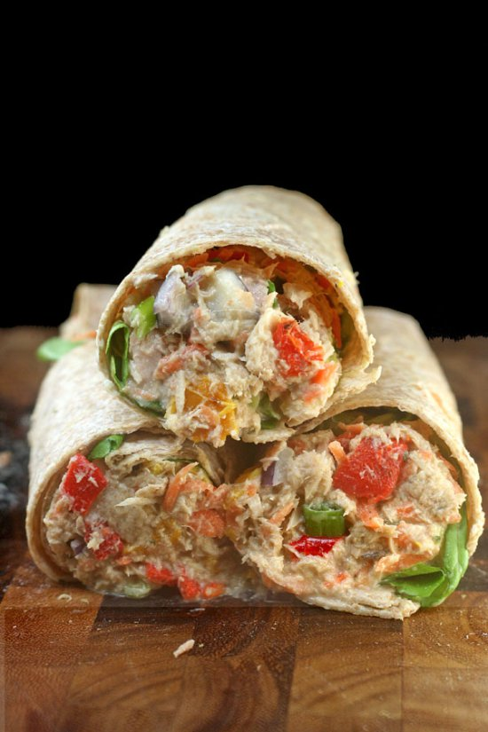 The ULTIMATE Chicken or Tuna Salad Sandwich Recipe! - It's Delicious!! grilled peppers celery mayo greek ranch garlic3