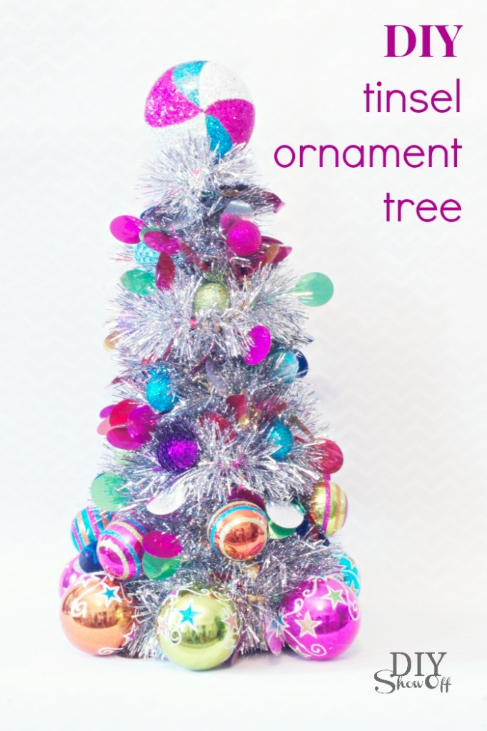 Christmas diy make this mini christmas ornament tree How to decorate a christmas tree without tinsel