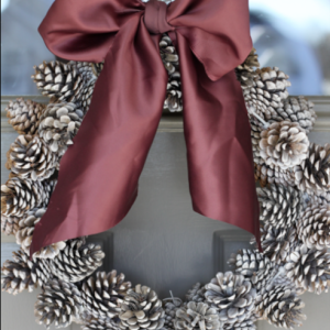 Holiday DIY: Easy Budget-Friendly Pine Cone Wreath christmas craft easy wire cheap1