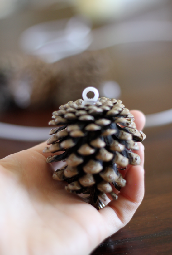Holiday DIY: Easy Budget-Friendly Pine Cone Wreath christmas craft easy wire cheap4