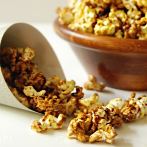 New Year's Eve Snacks: Gingerbread Butter Popcorn2