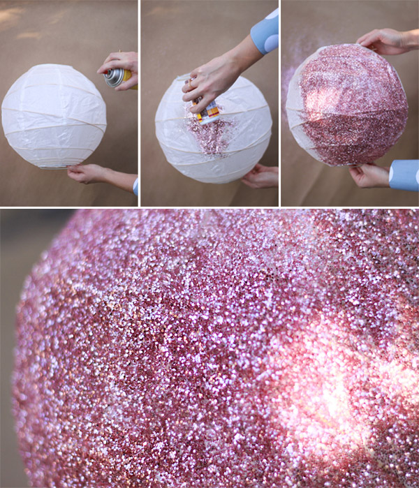 New Year's Party DIY: Glitter Paper Lanterns4