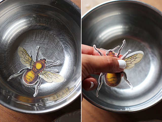 How to Jazz Up Flea Market Vintage Plates insect easy project thrift store budget cheap3