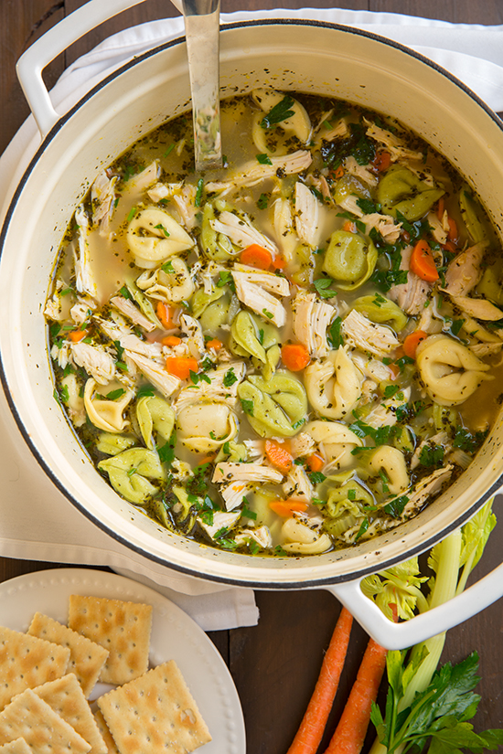 Not Your Ordinary Chicken Soup! Tortellini Chicken Noodle Soup With Italian Seasoning2