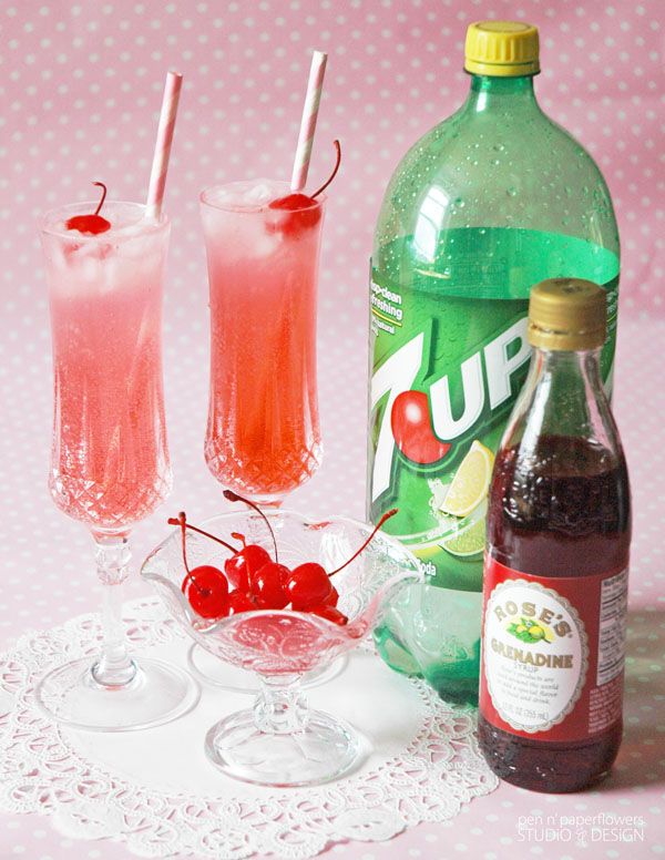 Valentine's Day Kid-Friendly Fizzy Shirley Temples 2