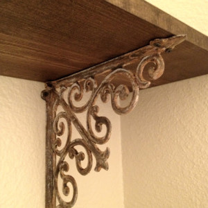 Shabby Chic DIY: Make Your Brand New Iron Brackets Old and Rusty88