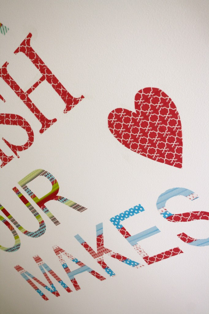 Budget Decorating: How to Make Your Own Customized Wall Decals Using Washi Tape!2