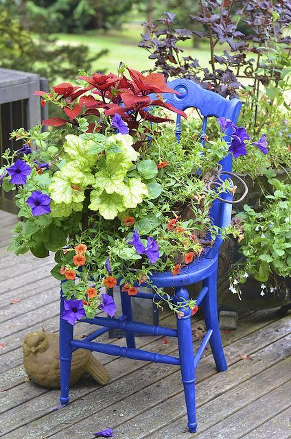Gardening Diy Turn A Thrift Store Chair Into A Cute