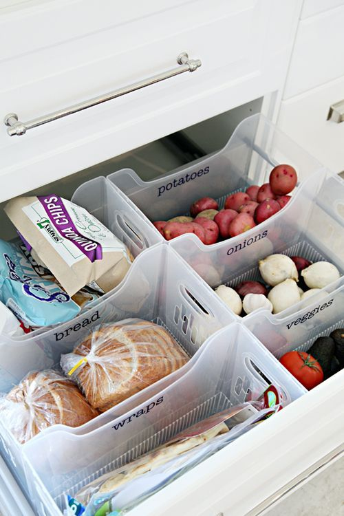 kitchen organized drawers ideas