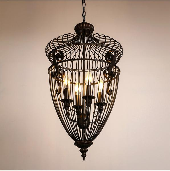 Eleganzo Collection Classic Iron High End Art Deco Chandelier