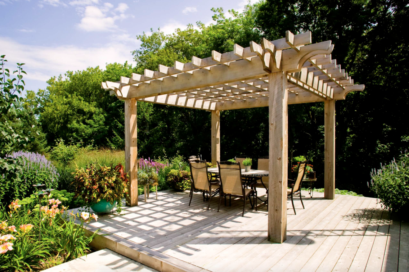 backyard pergola yard backyard patio deck landscaping ideas
