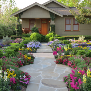 front yard landscaping flowers ideas gardening