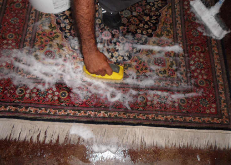 how to clean oriental persian rug with sponge water