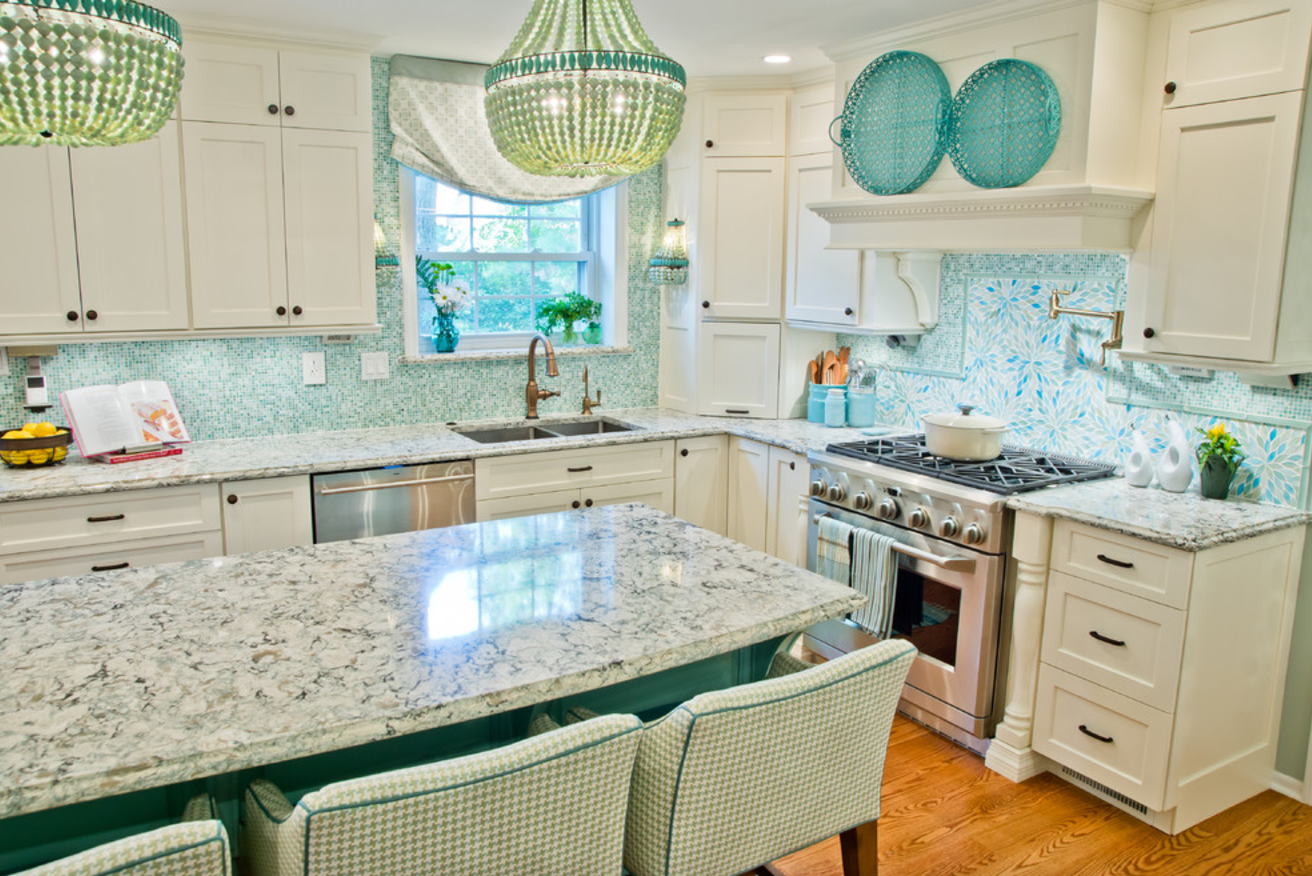 kitchen cabinets blue white decorating ideas